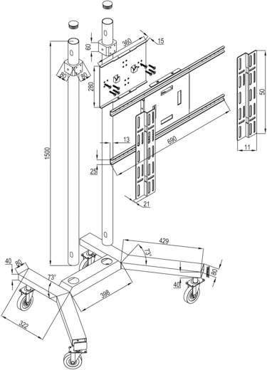 "TV-Rollwagen 81,3 cm (32"") - 127,0 cm (50"") Starr B-Tech BT 8504/SC Höhenverstellbar"