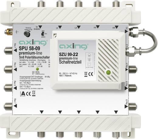 SAT Multischalter Axing SPU 58-09 Eingänge (Multischalter): 5 (4 SAT/1 terrestrisch) Teilnehmer-Anzahl: 8 StandBy-Funktion, Quad-LNB-tauglich