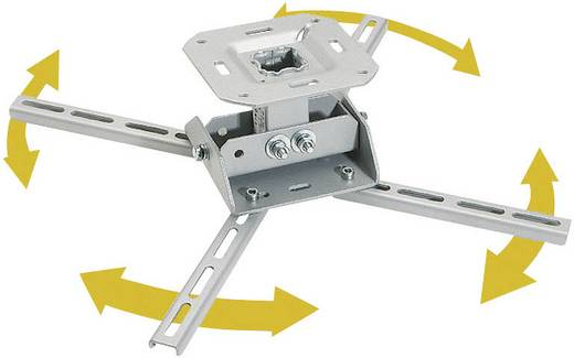 Kindermann Quadro Basic 11 Beamer-Deckenhalterung Neigbar, Schwenkbar Boden-/Deckenabstand (max.): 13.5 cm Weiß