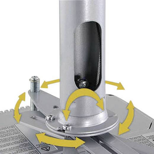 Beamer-Deckenhalterung Neigbar, Drehbar Boden-/Deckenabstand (max.): 12 cm Kindermann Beamer Quadro Deckenträger Advanced 12 Weiß