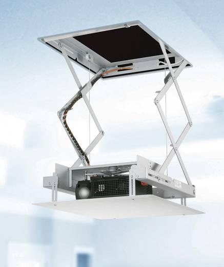 Beamer-Deckenhalterung Motorisiert Boden-/Deckenabstand (max.): 80 cm Kindermann Quadro Deckenlift Compact Weiß, Silber