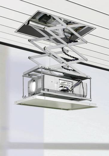 Beamer-Deckenhalterung Motorisiert Boden-/Deckenabstand (max.): 120 cm Kindermann Quadro Deckenlift Standard 120 Weiß,