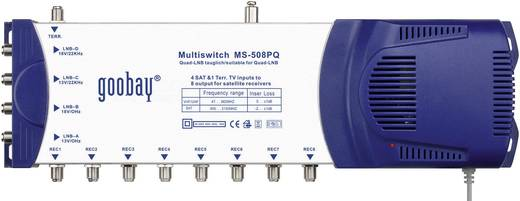 SAT Multischalter Goobay MS 508 PQ Eingänge (Multischalter): 5 (4 SAT/1 terrestrisch) Teilnehmer-Anzahl: 8 inkl. LNB