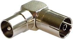 Anténní úhlový adaptér Renkforce anténní zástrčka - anténní zásuvka, 75 Ω, kovová