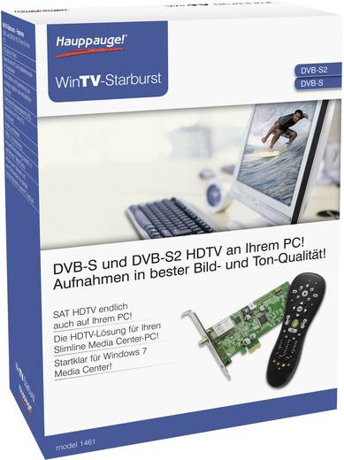 DVB-S PCIe-Karte Hauppauge WinTV-Starburst mit Fernbedienung, Aufnahmefunktion Anzahl Tuner: 1
