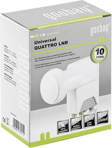 Quattro-LNB Goobay Universal Feedaufnahme: 40 mm vergoldete Anschlüsse