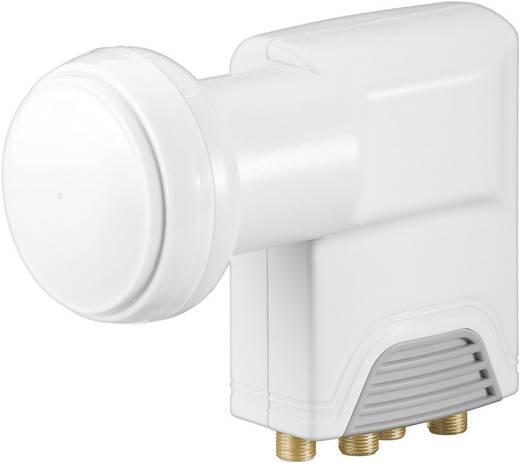 Quad-LNB Goobay Universal Teilnehmer-Anzahl: 4 Feedaufnahme: 40 mm vergoldete Anschlüsse, mit Switch
