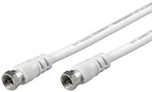 SAT Anschlusskabel [1x F-Stecker - 1x F-Stecker] 2.50 m 85 dB Weiß Goobay