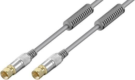 SAT Anschlusskabel [1x F-Stecker - 1x F-Stecker] 1.50 m 85 dB Grau Goobay