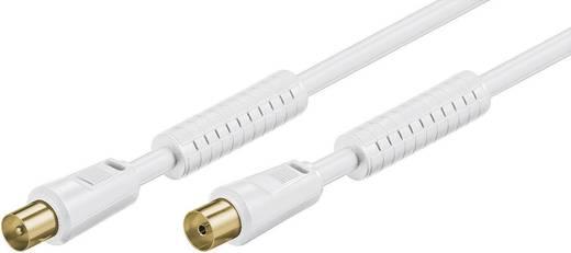 Antennen Anschlusskabel [1x Antennenstecker 75 Ω - 1x Antennenbuchse 75 Ω] 5 m 85 dB vergoldete Steckkontakte Weiß Goobay