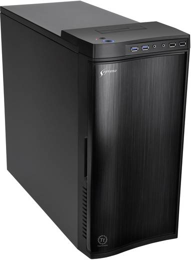 midi tower pc geh use thermaltake new soprano schwarz kaufen. Black Bedroom Furniture Sets. Home Design Ideas