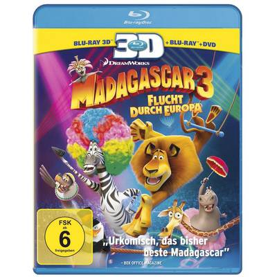3D Blu-ray Madagascar 3 - Flucht durch Europa Preisvergleich