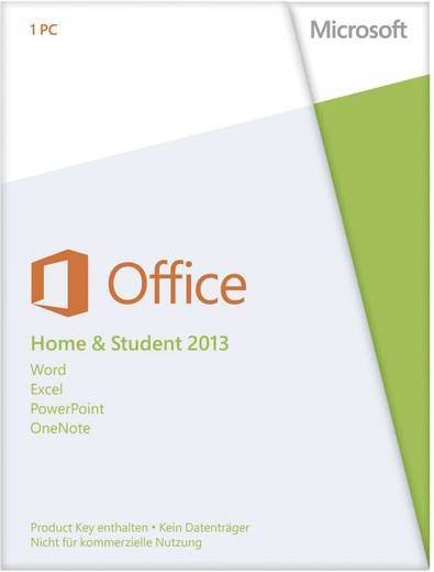 microsoft office home and student 2013 vollversion 1. Black Bedroom Furniture Sets. Home Design Ideas