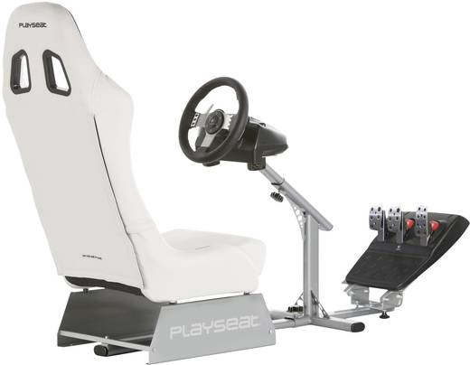 Rennsitz Playseats Evolution M White Silver Weiß-Silber