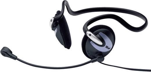 PC-Headset 3.5 mm Klinke schnurgebunden Trust Cinto HS-2200 On Ear Schwarz