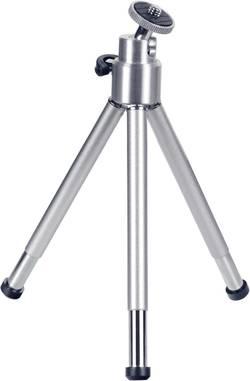 Mini stativ Hama 62004009, 1/4palcové, min./max.výška 14 - 21 cm, stříbrná