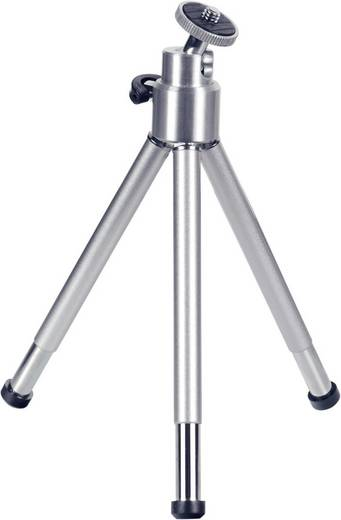 Ministativ Hama 1/4 Zoll Arbeitshöhe=14 - 21 cm Silber Kugelkopf