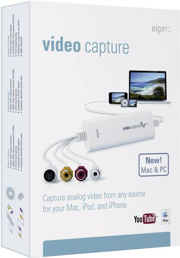 Video Grabber Elgato Video Capture pour PC et Mac inkl. Video-Bearbeitungssoftware