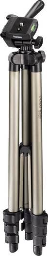 Dreibeinstativ Hama 4133 1/4 Zoll Arbeitshöhe=42 - 125 cm Champagner inkl. Tasche, Wasserwaage