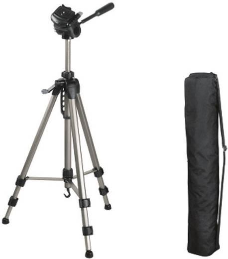 Dreibeinstativ Hama Star 63 1/4 Zoll Arbeitshöhe=66 - 160 cm Silber inkl. Tasche, Wasserwaage