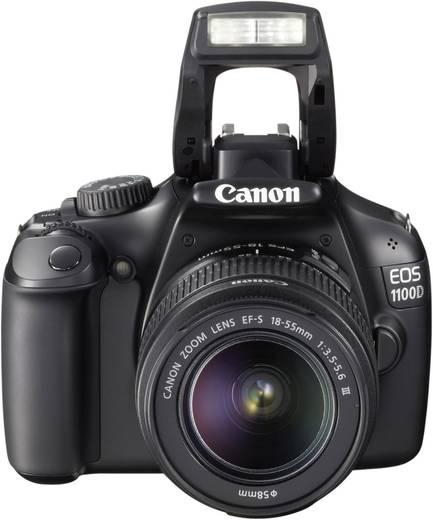 digitale spiegelreflexkamera canon eos 1100d kit ef s 18 55 mm is ii 12 2 mio pixel schwarz. Black Bedroom Furniture Sets. Home Design Ideas