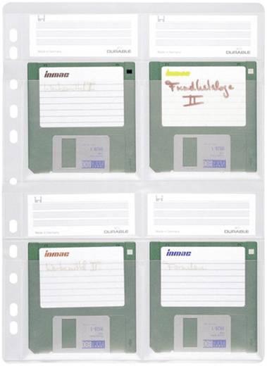 Durable Disketten Ordner-Hülle 4 Disketten 3,5 Zoll Transparent 5 St. 5243