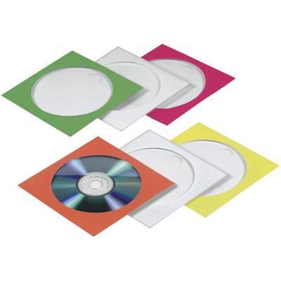 Hama CD Hülle 1 CD/DVD/Blu-Ray Papier Rot, Grün, Blau, Orange, Gelb 100 St.  (B x H x T) 125 x 125 x 1 mm 78369