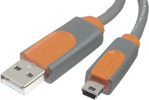 USB 2.0 Anschlusskabel [1x USB 2.0 Stecker A - 1x USB 2.0 Stecker Mini-B] 3 m Grau UL-zertifiziert Belkin