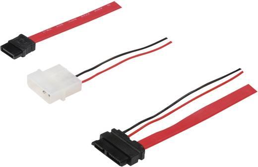 Festplatten Anschlusskabel [1x SATA-Buchse 7pol. - 1x Slimline-SATA-Kombi-Buchse 7+6pol.] 0.50 m Rot Digitus
