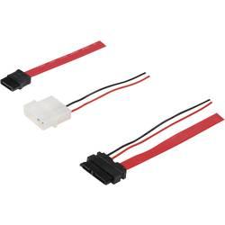 SATA II prepojovací kábel Digitus AK-400114-005-R, červená