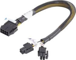Câble rallonge alimentation PCI-Express Akasa - [1x PCIe mâle 8 pôles - 2x PCIe mâle 4 pôles] -
