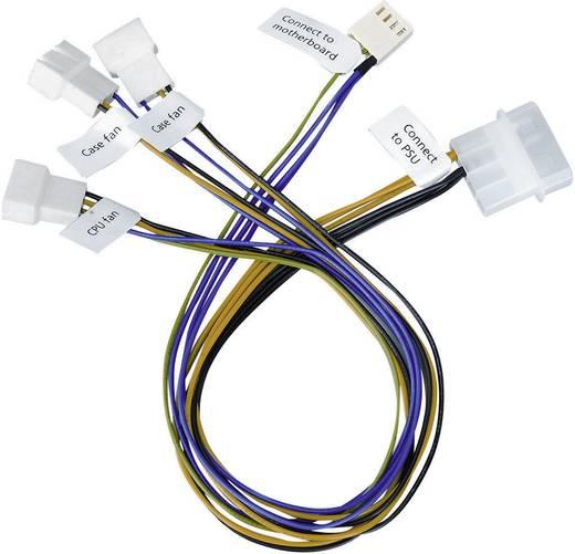 PC-Lüfter Anschlusskabel [3x PC-Lüfter Stecker 4pol. - 1x IDE-Strom-Stecker 4pol., IDE-Strom-Stecker 4pol.] 0.30 m Schwarz, Gelb, Grün, Blau Akasa