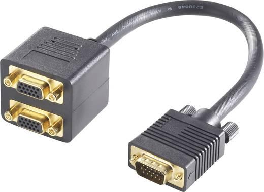 VGA Splitter-Kabel 20 cm Schwarz