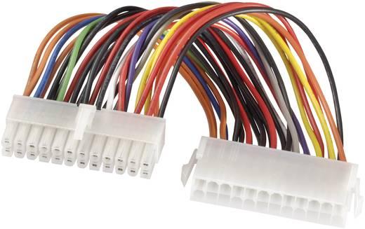 Strom Verlängerungskabel [1x ATX-Strom-Stecker 24pol. - 1x ATX-Strom-Buchse 24pol.] 0.20 m Bunt Goobay
