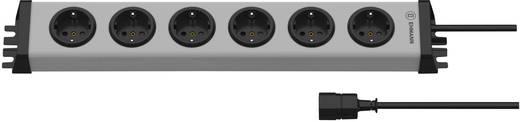 Steckdosenleiste mit Kaltgerätestecker 6fach Grau Schutzkontakt Ehmann Vario Linea 6-fach