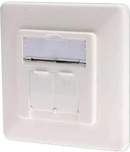 Netzwerkdose Unterputz Einsatz mit Zentralplatte und Rahmen CAT 6 2 Port Digitus Professional DN-9005-KL-N Reinweiß