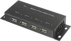 USB 2.0 hub 972434, 4 porty, 45 mm, černá