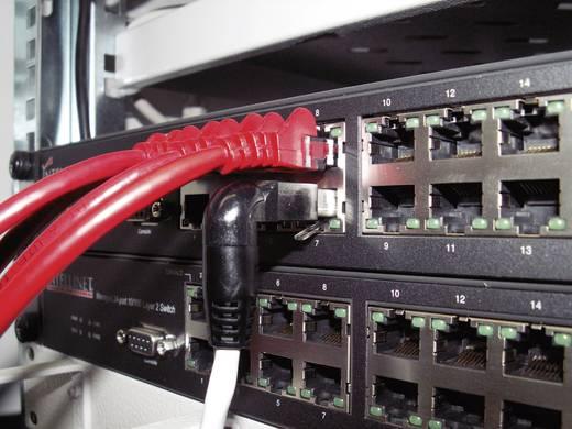 RJ45 Netzwerk Anschlusskabel CAT 6a S/FTP 10 m Schwarz Flammwidrig, mit Rastnasenschutz Dätwyler
