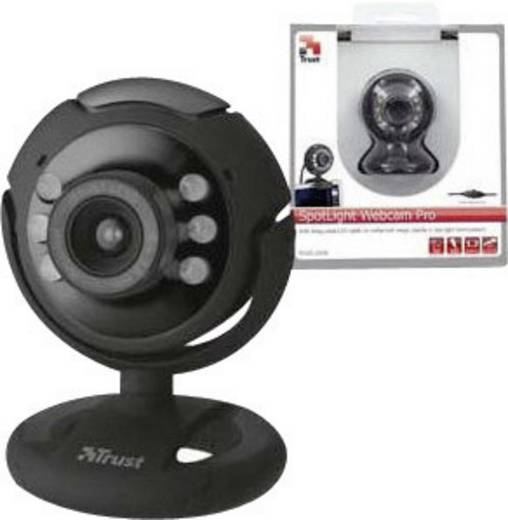 Trust Spotlight Pro HD-Webcam 1280 x 1024 Pixel Standfuß, Klemm-Halterung