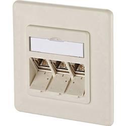 Sieťová zásuvka pod omietku Metz Connect 1309131001-E, CAT 6A, 3 porty, perlovo biela