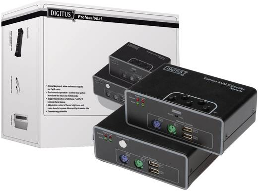 VGA, PS/2, USB 2.0 KVM-Extender (Verlängerung) über Netzwerkkabel RJ45 200 m Digitus DS-51110