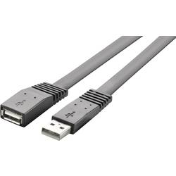 USB predlžovací kábel RENKFORCE 1x USB 2.0 zástrčka ⇔ 1x USB 2.0 zásuvka 3 m, čierna