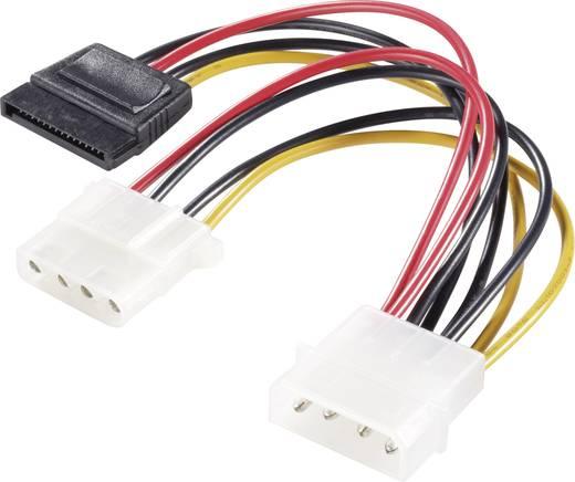 Strom Y-Adapter [1x IDE-Strom-Stecker 4pol. - 1x SATA-Strom-Buchse 15pol., IDE-Strom-Buchse 4pol.] 0.15 m Schwarz, Rot,