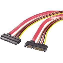 SATA II predlžovací kábel Renkforce RF-4297182, červená, oranžová, čierna, žltá