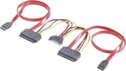 Y kabel pevný disk Renkforce RF-2926611, červená