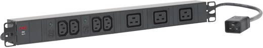 19 Zoll Netzwerkschrank-Steckdosenleiste 1 HE Kaltgeräte-Steckdose C13 10A, Kaltgeräte-Steckdose C19 16A AEG Power Solutions PDU 16-1 Schwarz