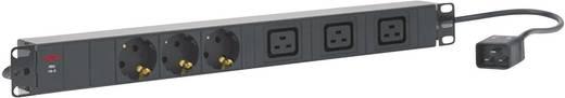 19 Zoll Netzwerkschrank-Steckdosenleiste 1 HE Schutzkontaktsteckdose, Kaltgeräte-Steckdose C19 16A AEG Power Solutions PDU 16-2 Schwarz