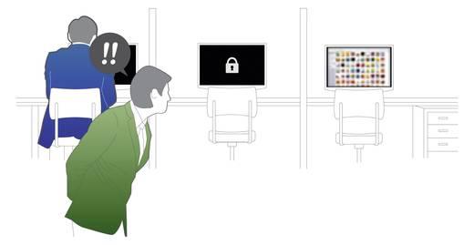 Bildschirm-Schloss 1 Karte für 1 PC weiß