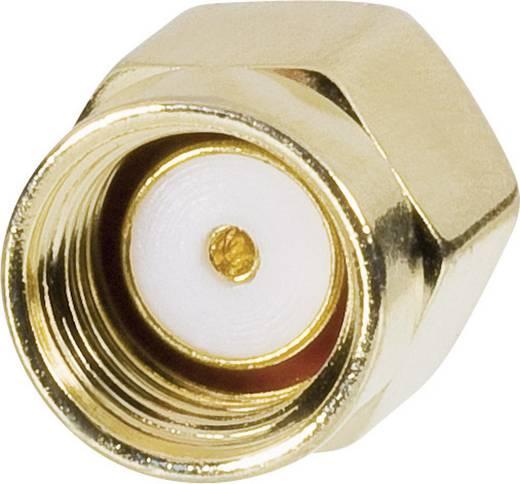 WLAN-Antennen Adapterkabel [1x SMA-Stecker - 1x RP-SMA-Stecker] 0.15 m Transparent vergoldete Steckkontakte Goobay