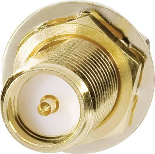 WLAN-Antennen Verlängerungskabel [1x RP-SMA-Stecker - 1x RP-SMA-Buchse] 1 m Schwarz vergoldete Steckkontakte Goobay